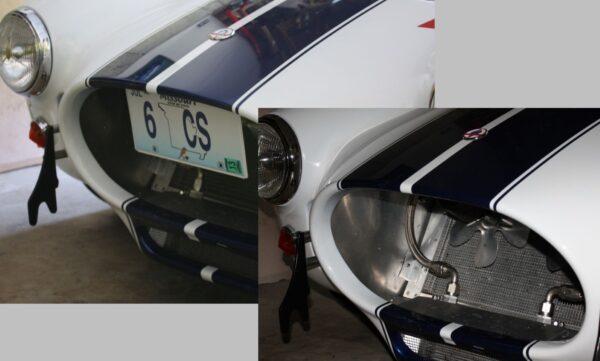 Cobra folding front license plate